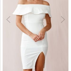 NWT- Selfie Leslie - white off shoulder dress